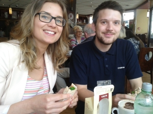 Taste testers Sarah and Greg