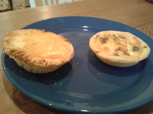 steak pie + quiche