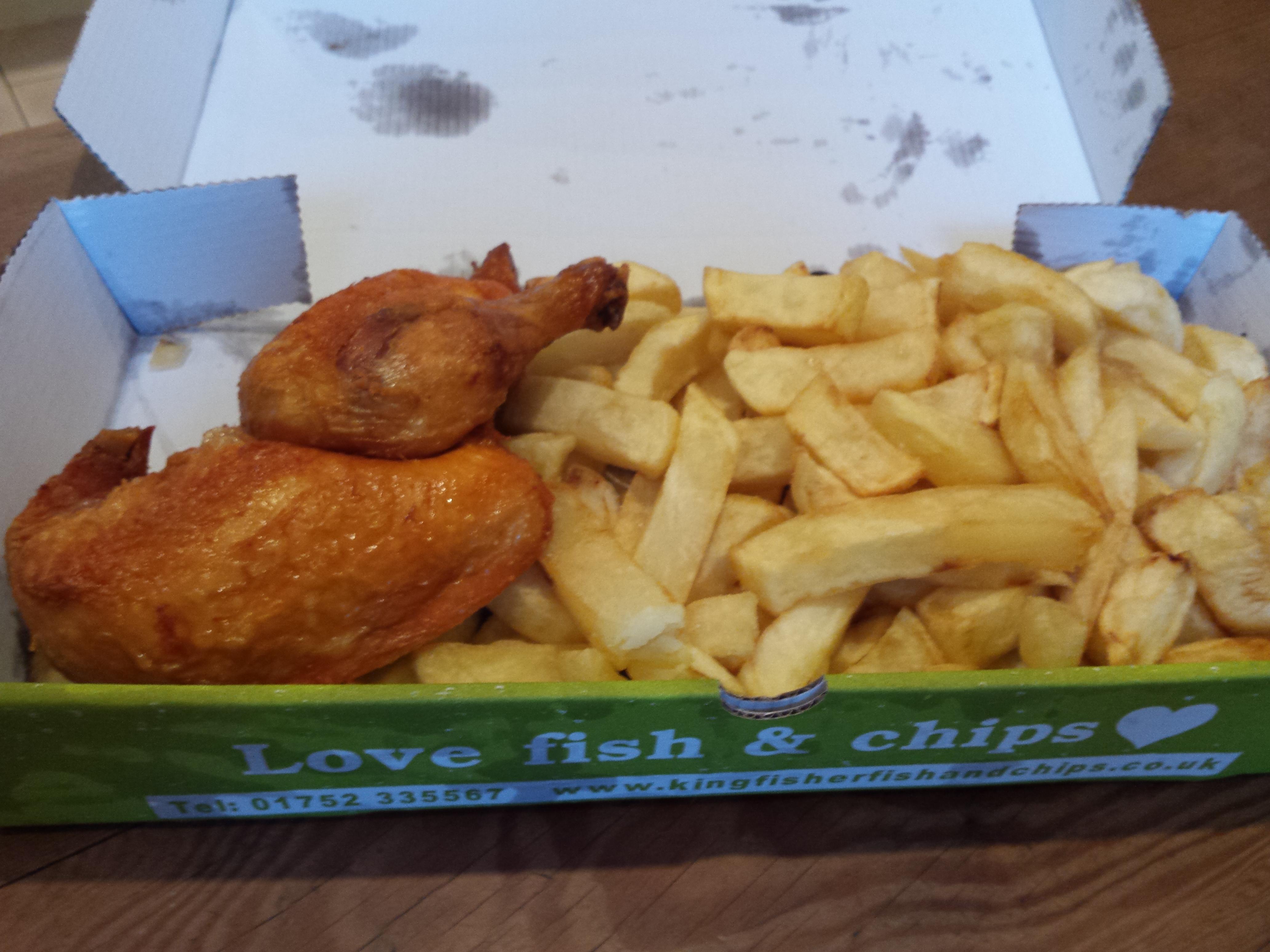 Kingfisher fish chips gluten free menu gluten free by for Gluten free fish and chips